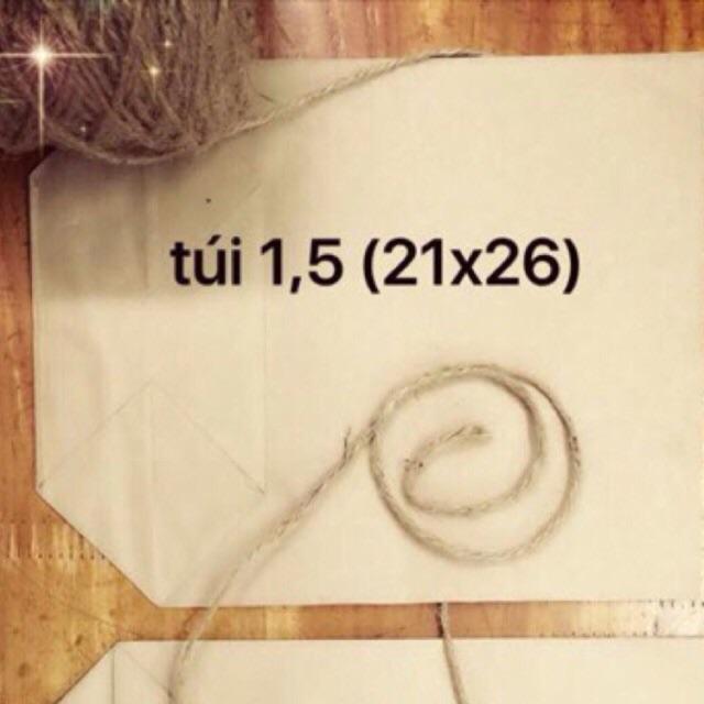 50 túi giấy xi măng gói đựng hàng loại 1.5kg giấy tốt (KT: 21x16cm)