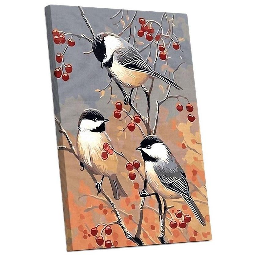 Tranh sơn dầu số hoá tự tô đã căn sẵn khung (painting by number) - Sẻ hoa