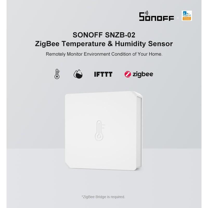 Cảm Biến Nhiệt Độ Độ Ẩm Zigbee 3.0 Tuya Sonoff SNZB-02 (Hỗ trợ Homeassistant)
