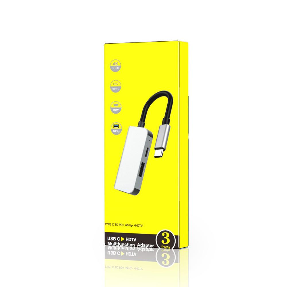 Cáp chuyển USB Type c to HDMI + USB 3.0 + USB C  chất lượng cao