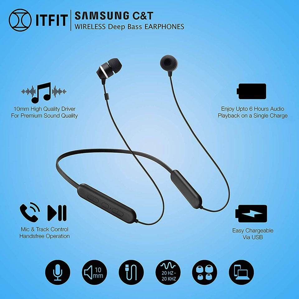 Tai nghe Bluetooth Samsung ITFIT A08C (GP-OAU019) - Hàng Chính Hãng