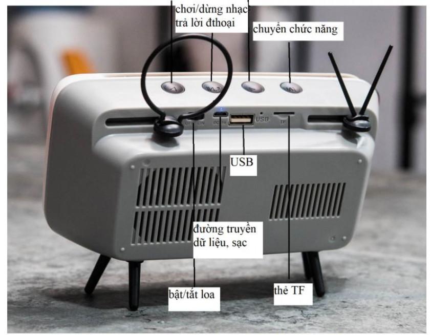 Tivi mini tích hợp loa bluetooth