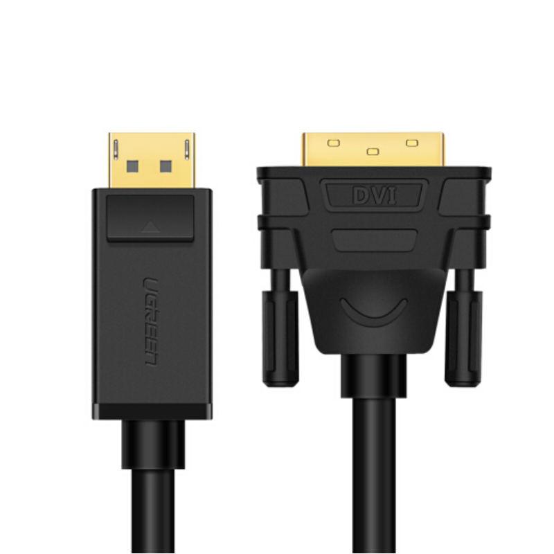 Dây cáp DisplayPort đực sang DVI-D (24+1) đực hỗ trợ 1920x1200 dài 2M UGREEN DP103 10221 - Hàng Chính Hãng