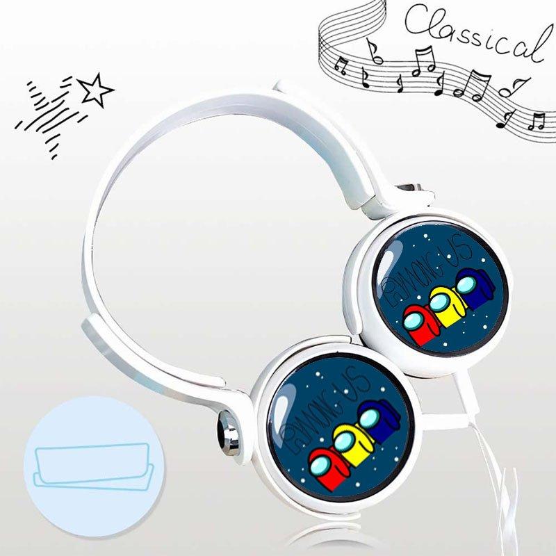 Tai nghe chụp tai game Among US dạng chụp cắm dây có mic