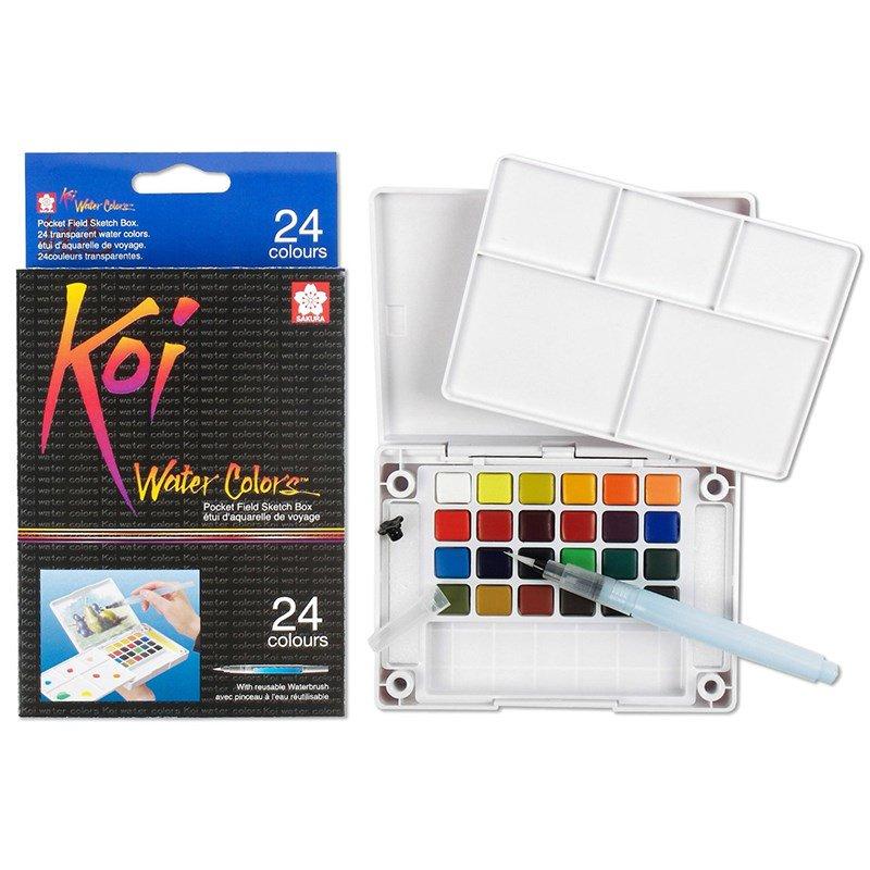 Màu nước nén Koi Water Colors 24 màu