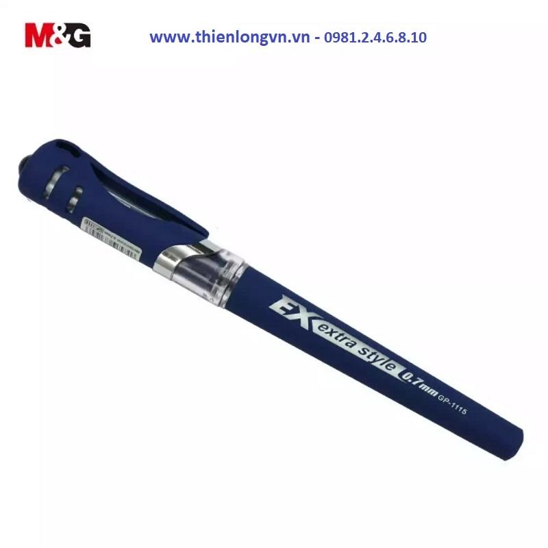 Combo 5 cây Bút nước - bút gel 0.7mm M&G - GP1115 màu xanh
