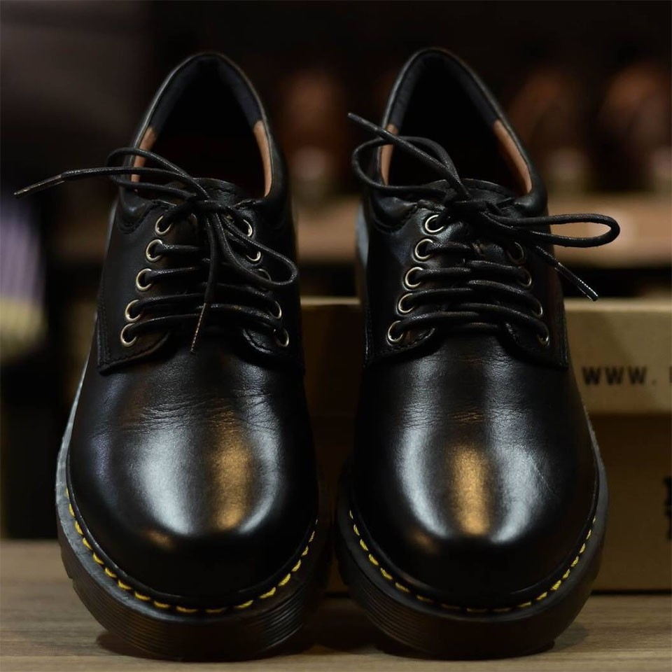 Giày nam, giày đốc nam cổ ngắn da bò thật mẫu giày mới xản xuất đế cao su êm bền