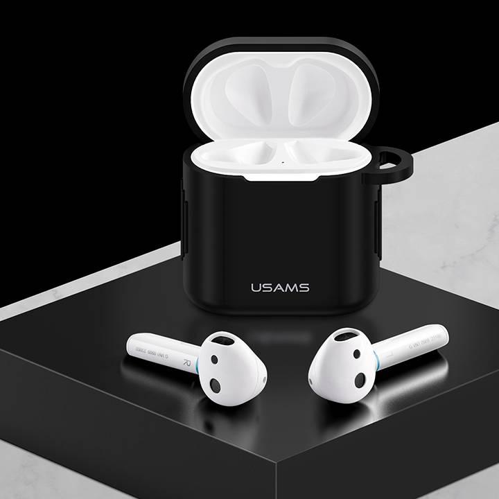Bao case silicon siêu mỏng cho tai nghe Huawei Freebuds 2 / Freebuds 2 Pro hiệu Usams BH-501 (Mỏng 0.8mm, chống vân tay, chống bám bẩn, vật liệu cao cấp) - Hàng nhập khẩu