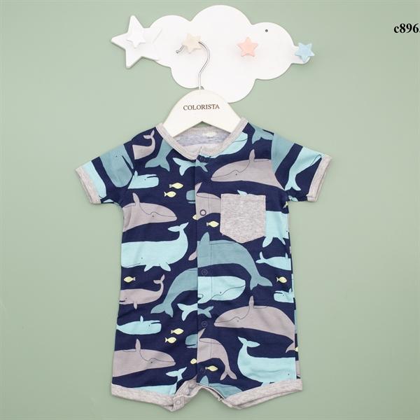 Body đùi họa tiết cá heo có túi ngực cho bé