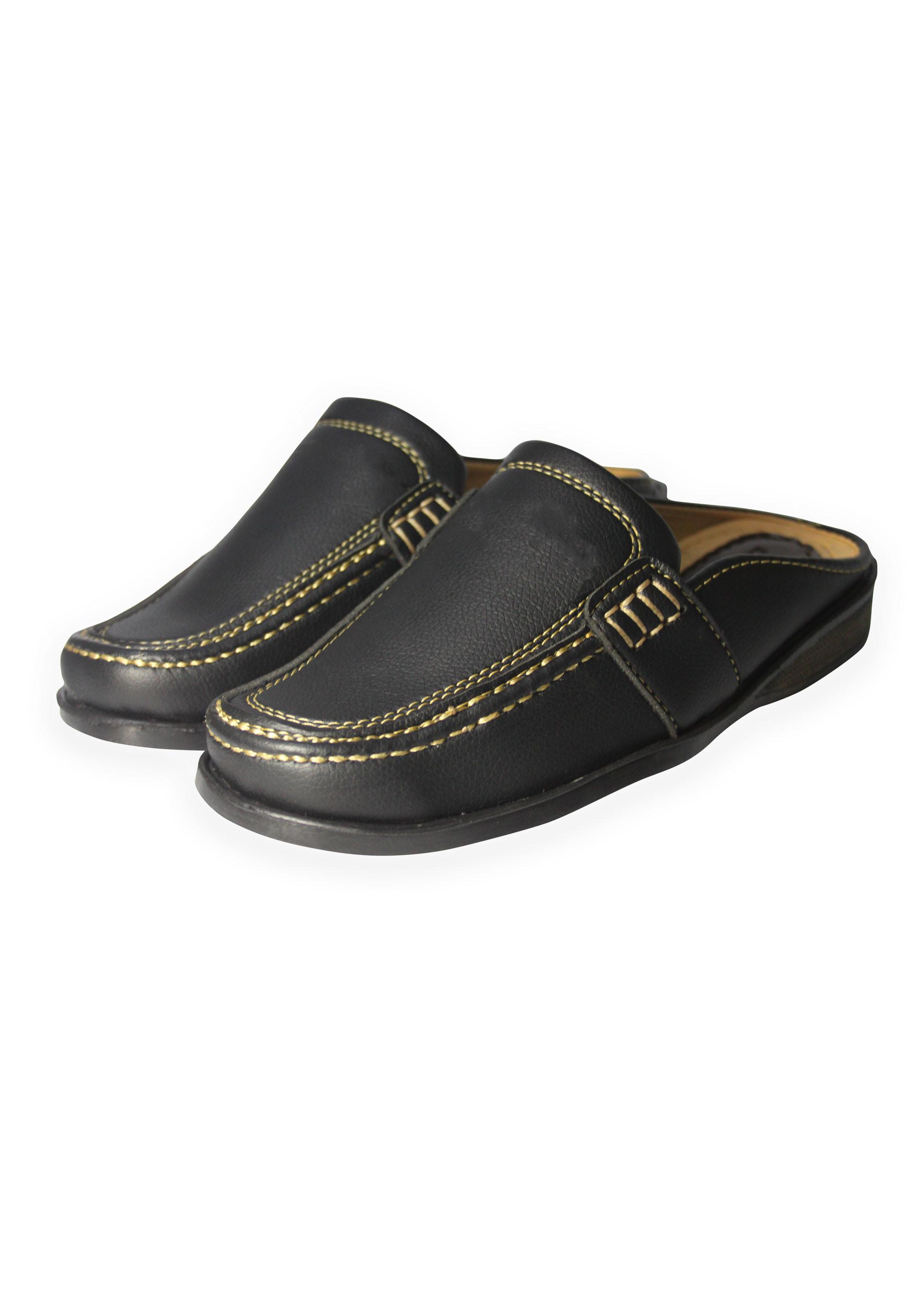 Thời trang dép giả giày cho nam - thoải mái nhưng không kém phần lịch lãm - NKV-SAPO-02-3oo-DE (Đen)