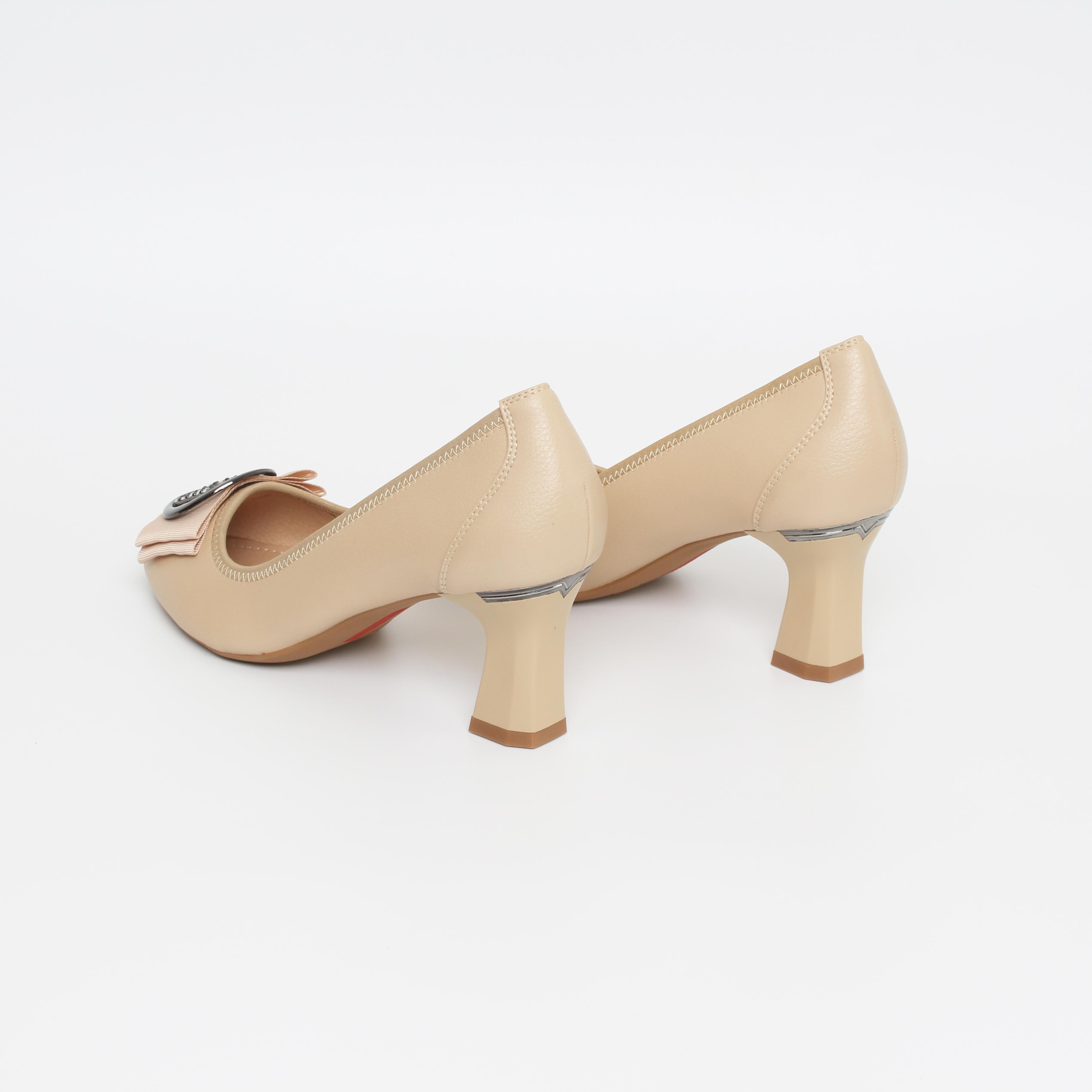 Giày Nữ, Giày Cao Gót Mũi Nhọn, Giày Cao Gót 7cm Thương Hiệu Giày Huy_BBTD8479