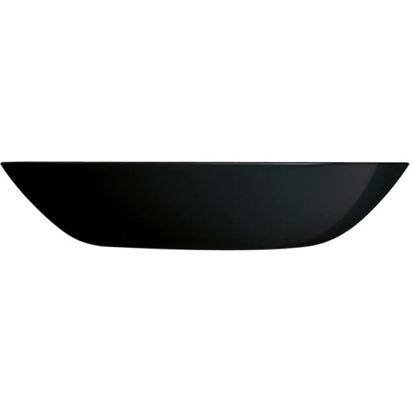 Đĩa sâu thủy tinh Luminarc Diwali Đen 20cm