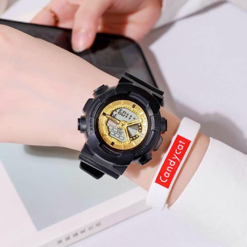 Đồng hồ điện tử thời trang nam nữ A-Sport As1 mặt tròn full chức năng sv23c - không kèm vòng tay