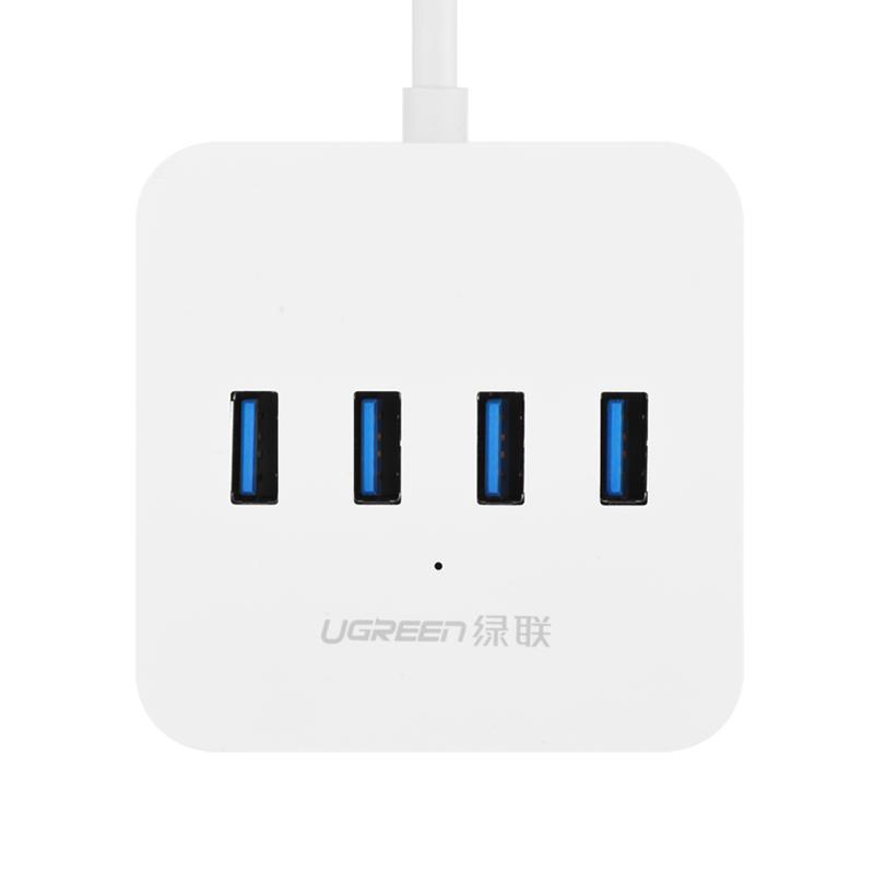 Bộ chia USB 3.0 ra 4 cổng hỗ trợ nguồn DC 5V/2A dài 1m UGREEN CR118 30202 - Hàng chính hãng