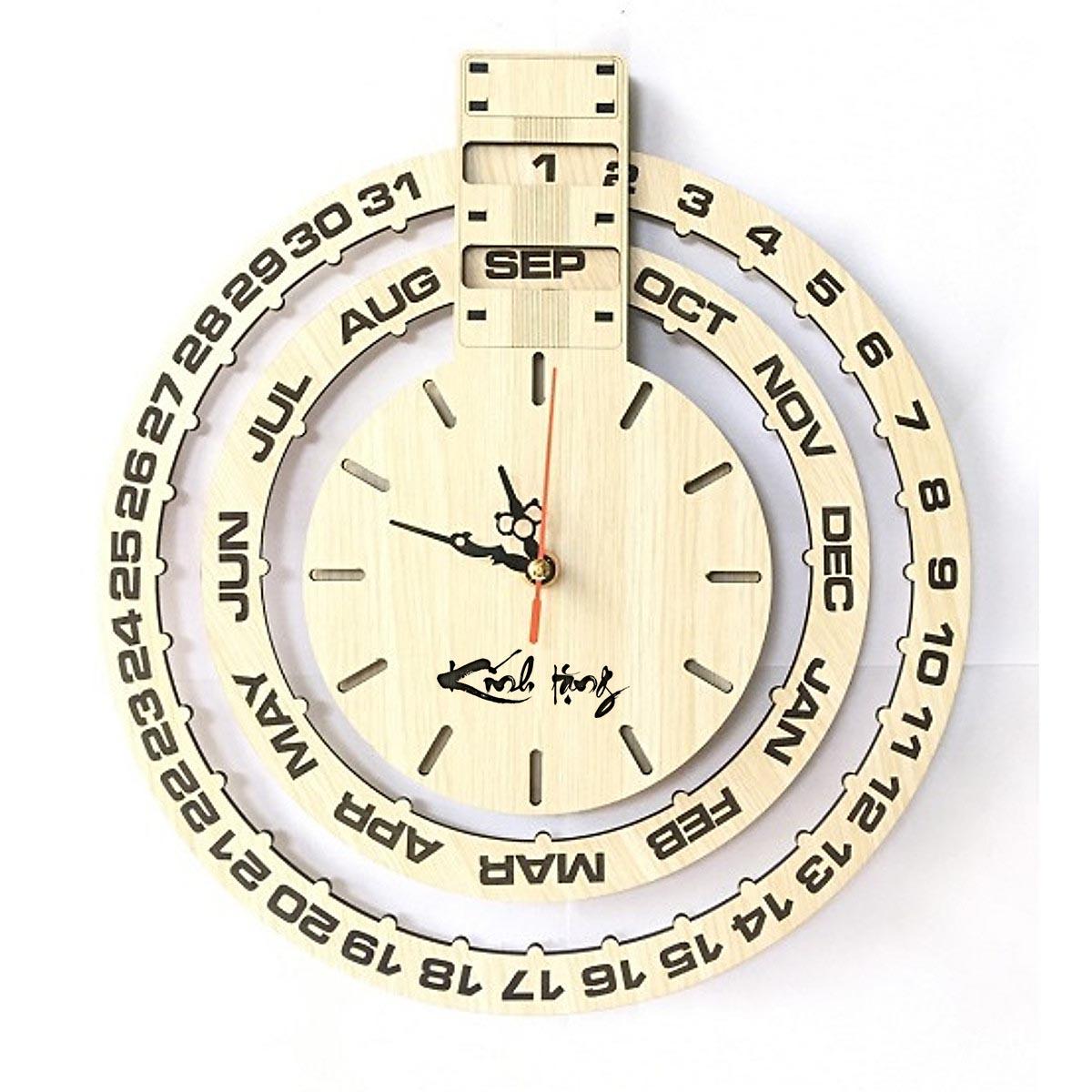 Đồng hồ treo tường có chữ Kính tặng & Thân tặng