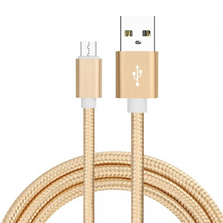 Dây sạc Micro USB cho điện thoại dài 3m , dây dù siêu bền