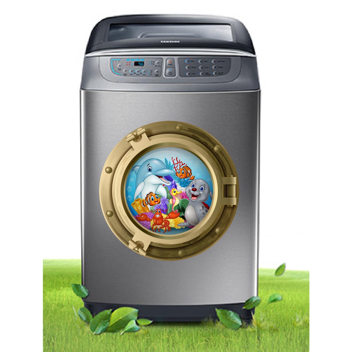 Decal trang trí máy giặt số 4