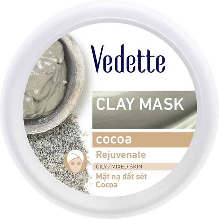 Mặt Nạ Đất Sét Sạch Sâu Dịu Nhẹ Vedette Cocoa (Hồi Phục Làn Da) - Hũ 145g
