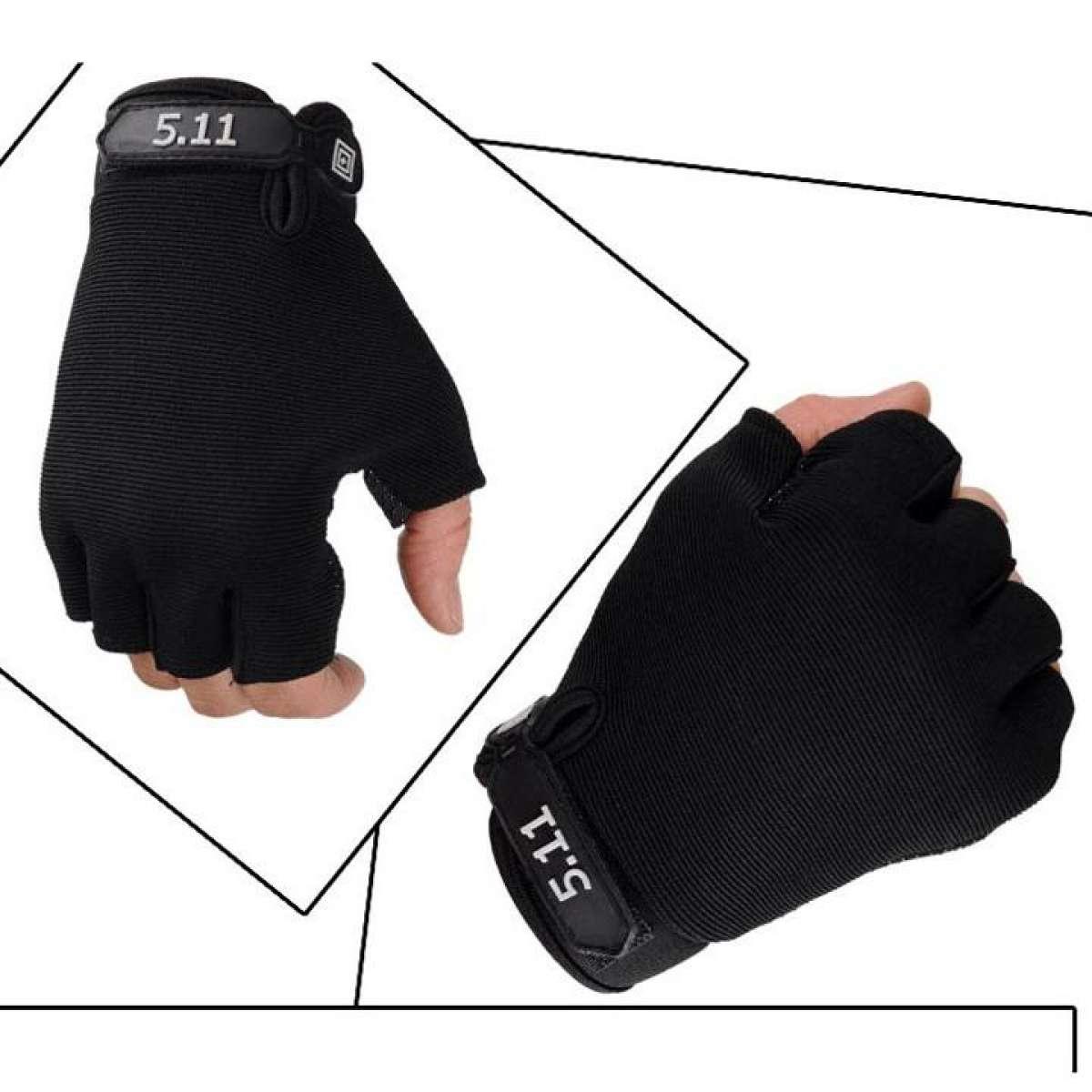 Găng tay phượt, tập Gym, thể thao đa năng thiết kế hở ngón tiện dụng chất liệu vải thun co dãn tốt Thời Trang (XL) - Gang tay phuot, tap gym, the thao da nang