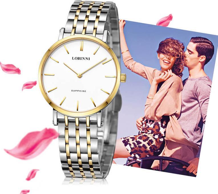 Đồng hồ đôi chính hãng Lobinni No.3002-1