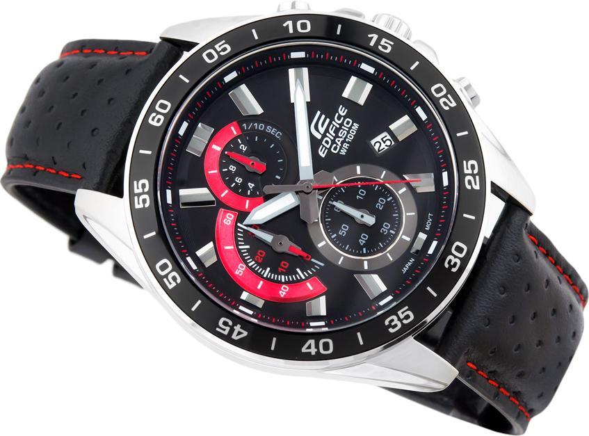 Đồng hồ nam dây da Casio Edifice chính hãng EFV-550L-1AVUDF