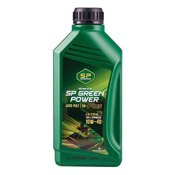 Nhớt số cao cấp - SP GREEN POWER PLUS SN 10W-40 - 100% SYNTHETIC