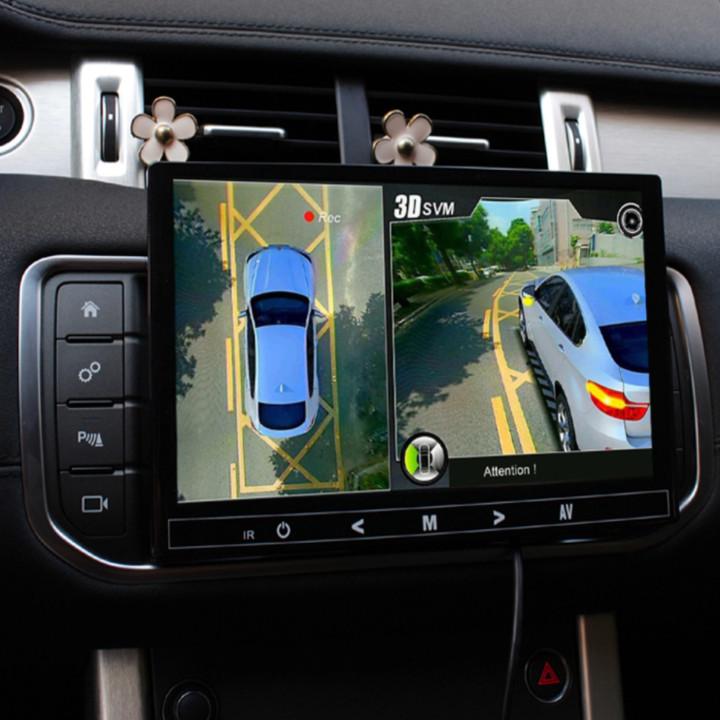 Camera hành trình 360 độ 3D cao cấp chuẩn AHD 1080P - Dùng được cho tất cả các loại xe có màn hình hiển thị trên xe - Góc quan sát: 360 độ