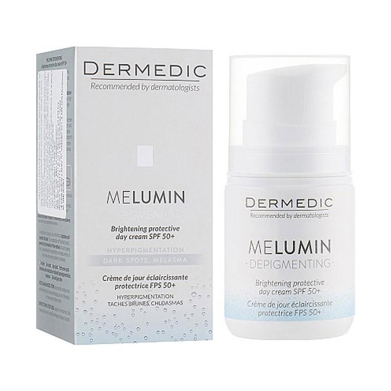 Kem dưỡng da kết hợp chống nắng Melumin brightening protective day cream SPF 50+ Dermedic