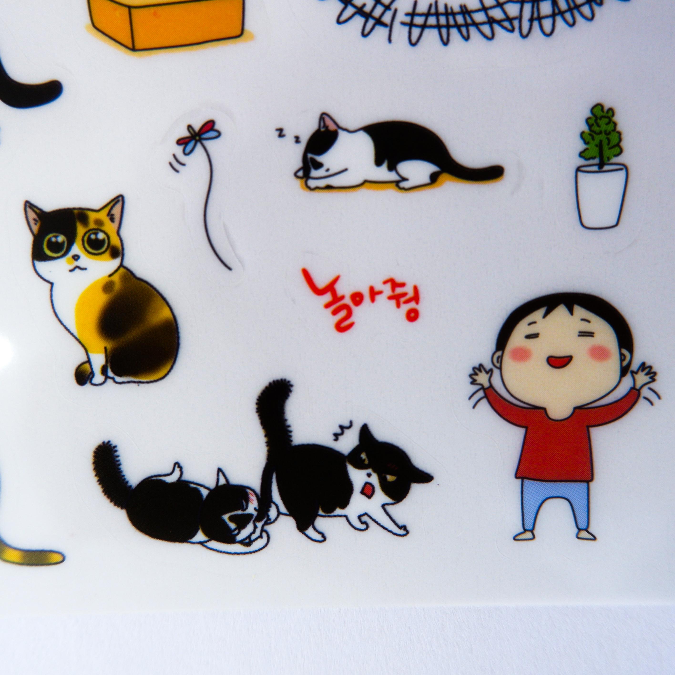 Bộ 6 tấm sticker mèo trang trí TZ-386