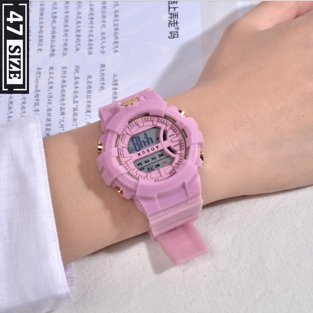 Đồng hồ điện tử sports thời trang nam nữ unisex, dây silicon cao cấp, full chức năng, chống nước tốt