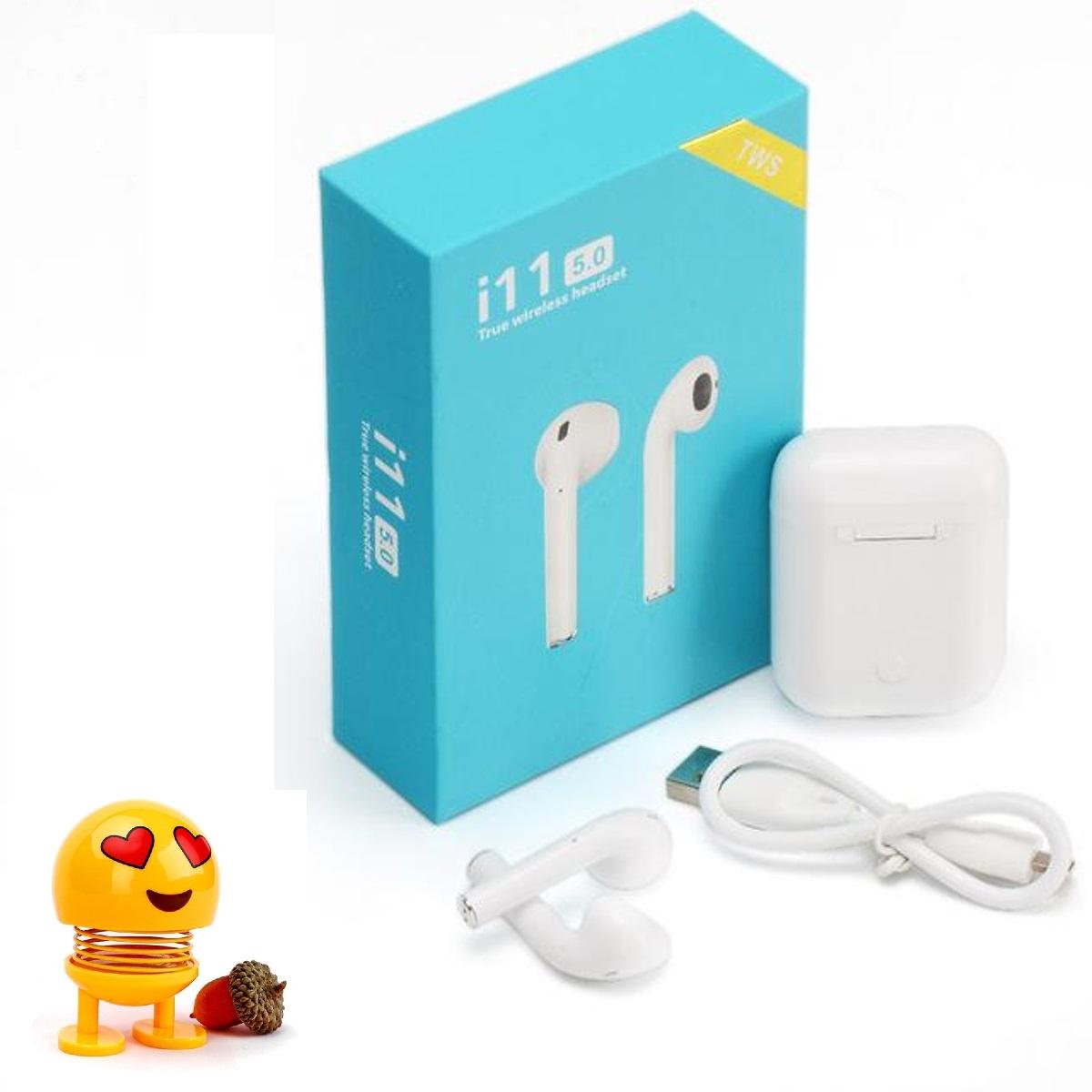 Tai Nghe Bluetooth Bản cảm ứng Không Dây i11 TWS - Hàng chính hãng - Tặng Emoji ngộ nghĩnh