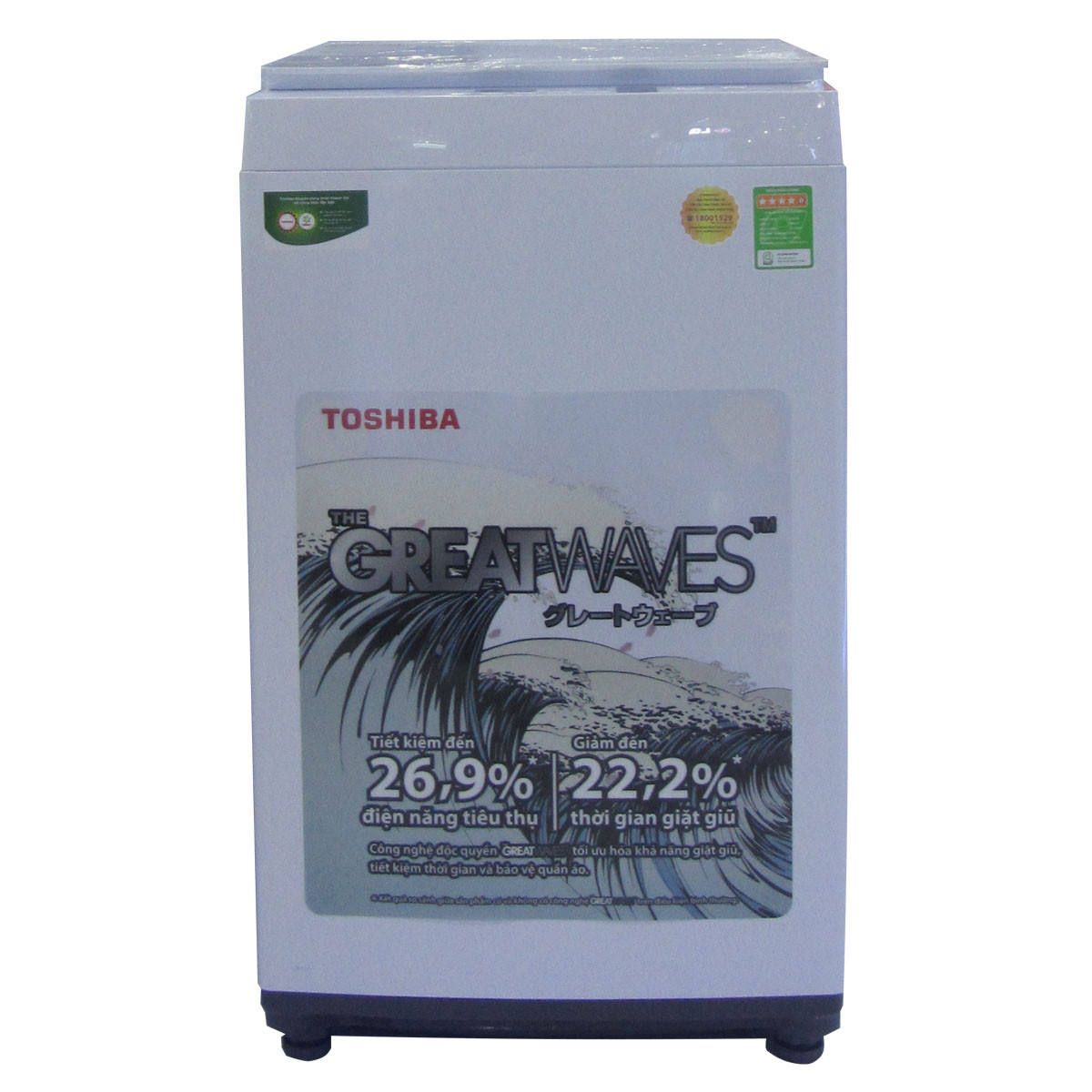 Máy giặt Toshiba 8 kg AW-K800AV WW - HÀNG CHÍNH HÃNG