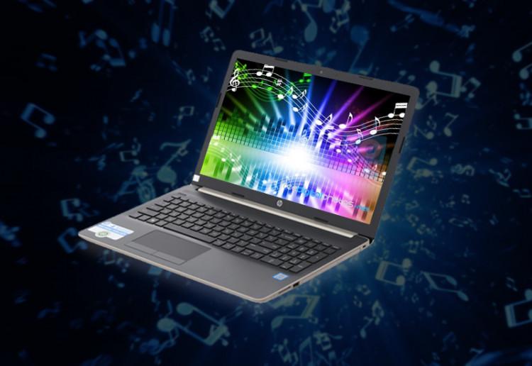Âm thanh to, rõ trên Laptop văn phòng HP 15 da1023TU (5NK81PA)