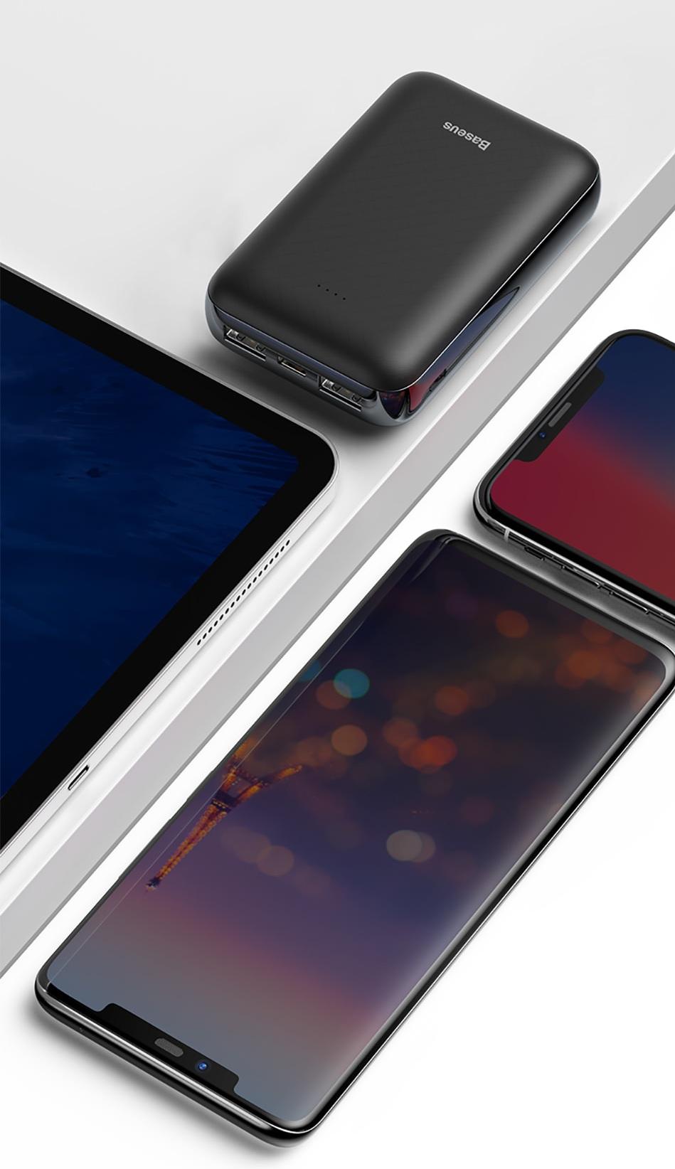 Pin dự phòng  Baseus Mini JA Power Bank 10000mAh  hỗ trợ sạc nhanh Quick Chager ( Input ) cho Smartphone/ Tablet [NEKOSHI] - Hàng chính Hãng