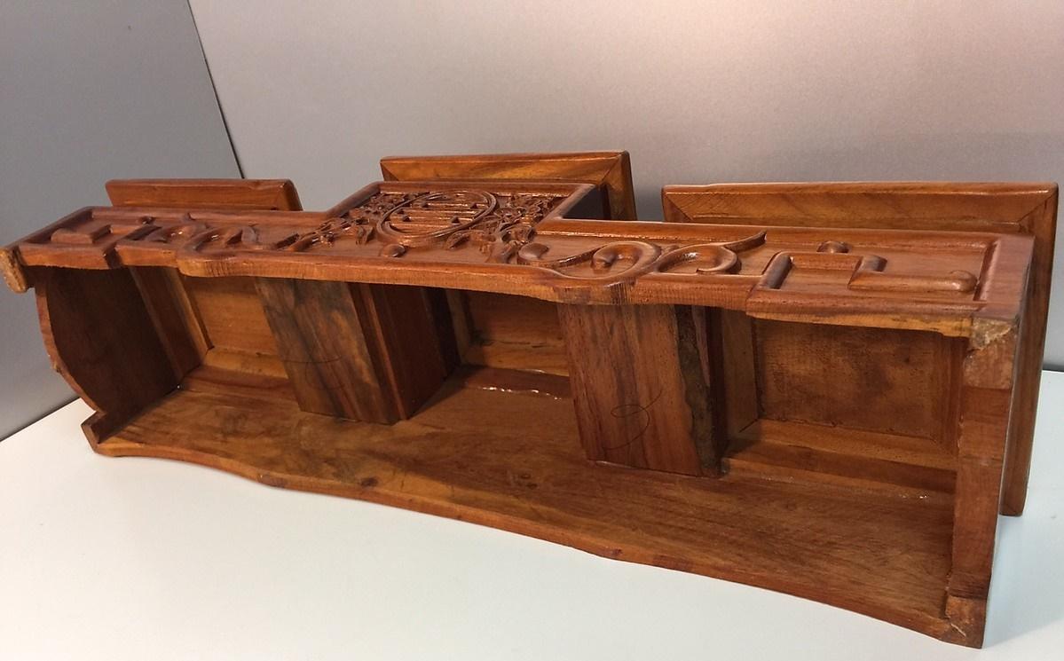 Đế đặt bát nhang 20 - gỗ hương AN1332