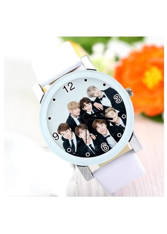 Đồng hồ BTS phong cách Hàn Quốc mẫu 1