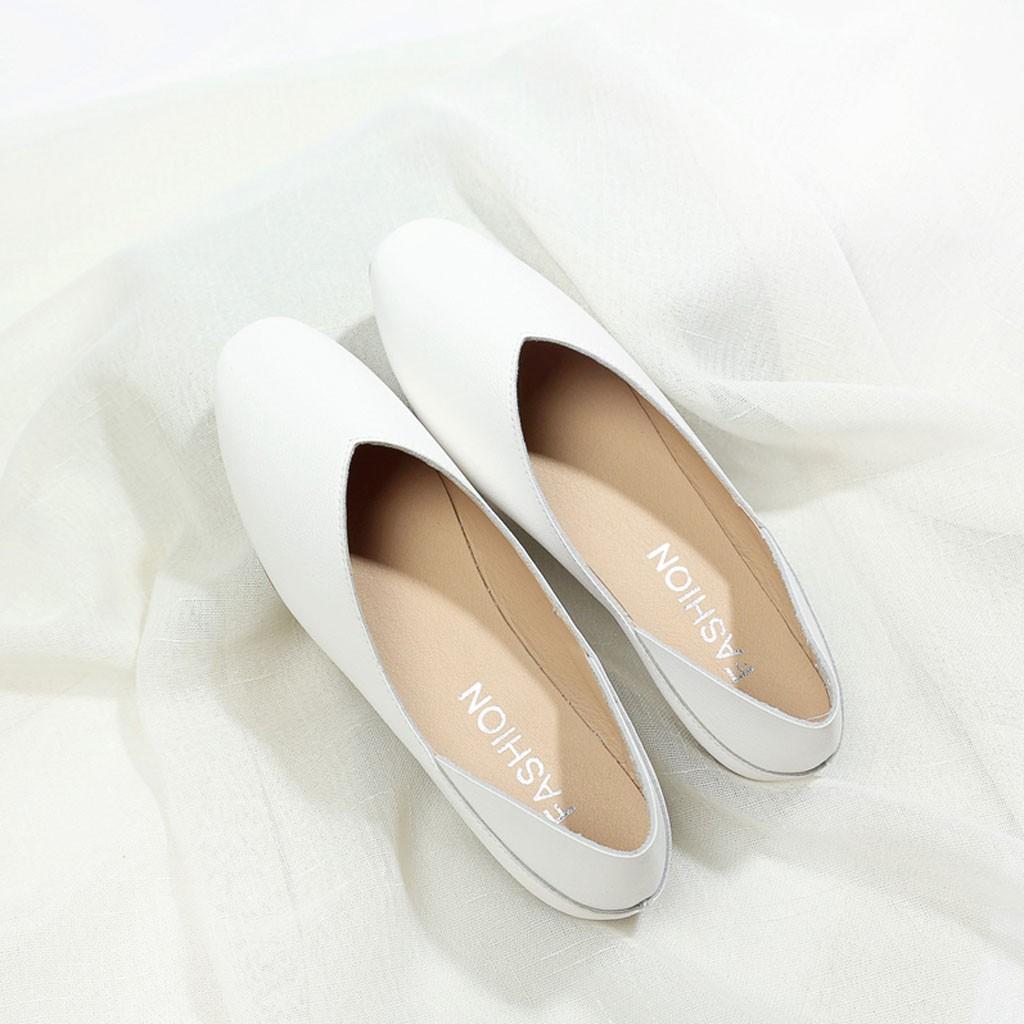 Giày Búp Bê Nữ Đế Bằng, Mũi Tròn, Da PU Mềm Hot Trend ST31 - Mery Shoes