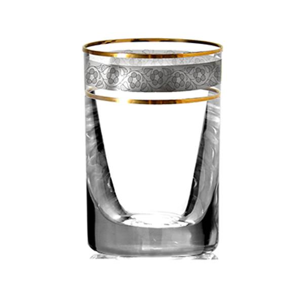 Bộ 6 ly uống rượu mạnh pha lê cường lực mạ vàng platin 24k 035ml Tiệp Khắc