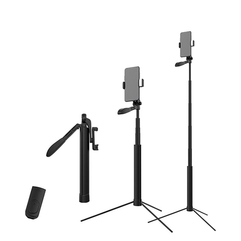 Gậy Chụp Ảnh 1m6 kiêm tay cầm quay video chống rung A21 tích hợp Remote Bluetooth Thế Hệ Mới  Hàng Chính Hãng