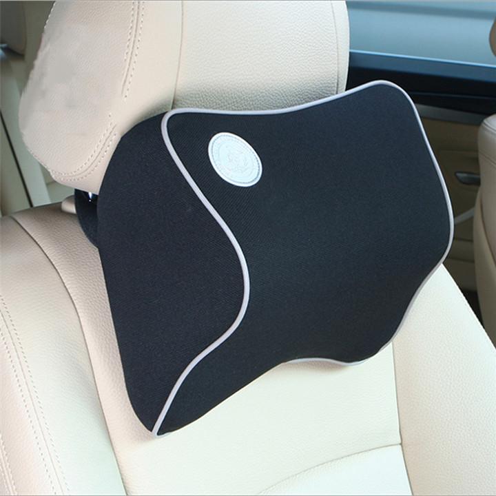 Gối tựa đầu , tưa lưng xe hơi Lucky  V2 Bobi chất liệu cao su non cao cấp.