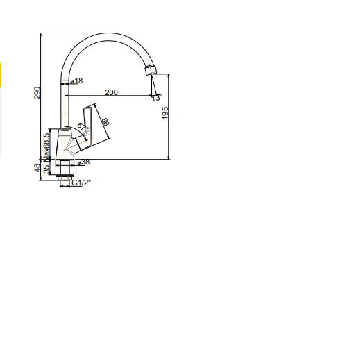 Vòi bếp lạnh cổ cao American Standard -Wiston WF-T606(FFAST606)
