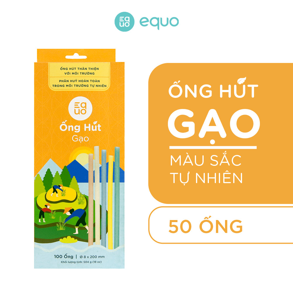 Combo 4 hộp ống hút EQUO 50 ống - Sở hữu bộ sưu tập xanh tiết kiệm lên đến 60k