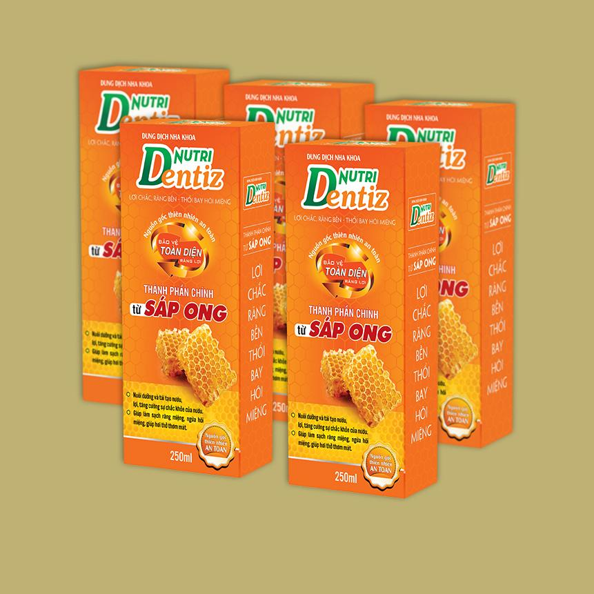 Combo 5 chai Dung dịch Nutridentiz (250ml/1 chai)