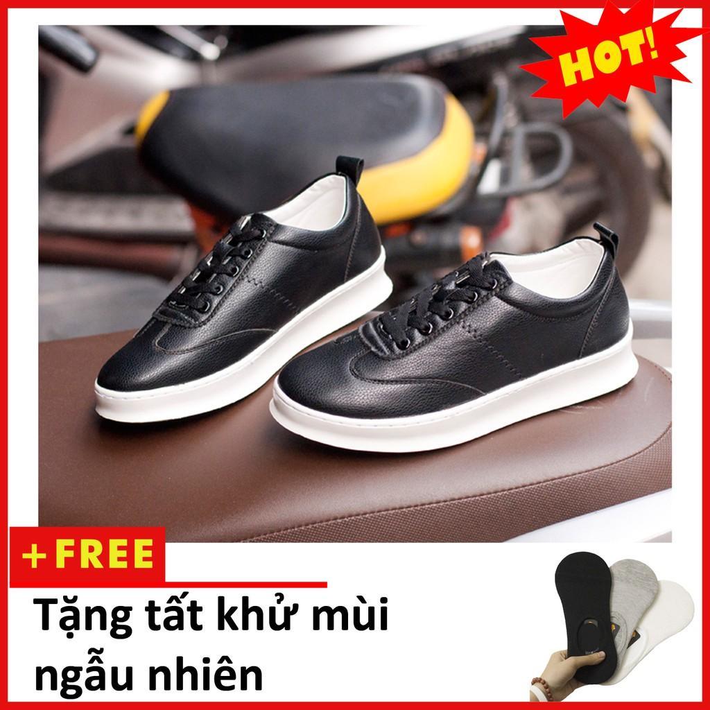 Giày sneaker W đen mới T455(T)-DEN