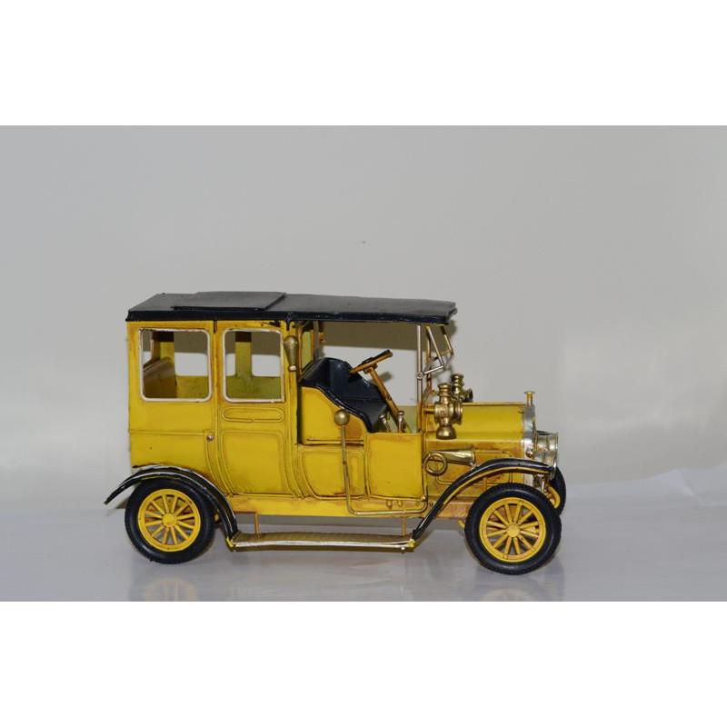 Mô hình Xe hơi cổ Kim loại trưng bày/ Vintage Metal Car Handmade Decoration (1810D-1147)