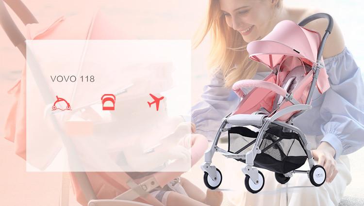 Xe đẩy du lịch Vovo Travel gấp gọn 2018 mới nhất 2