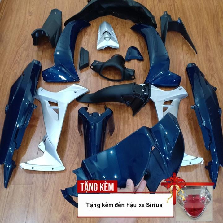 Dàn áo dành cho xe SIRIUS nhựa ABS nguyên sinh cao cấp màu XANH NHỚT phanh đĩa kèm Củ hậu sau xe