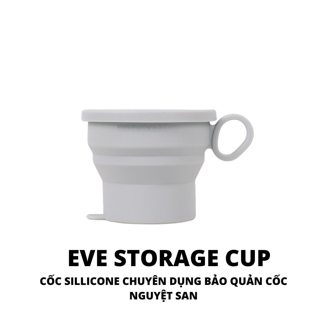 Cốc silicone chuyên dụng bảo quản Cốc Nguyệt San EVE CUP - An toàn, không độc hại