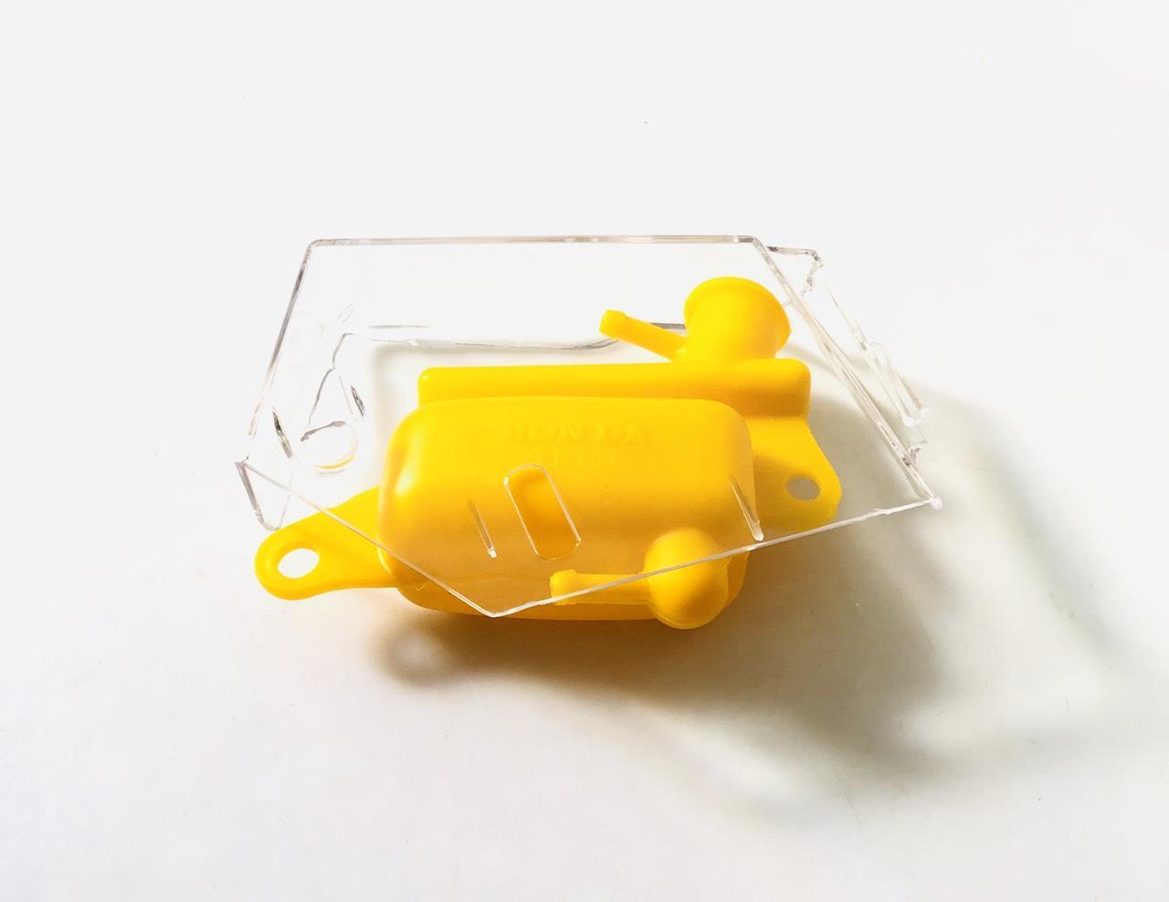 bộ nắp trong suốt bình nước vàng gắn dè chắn bùn sau AB