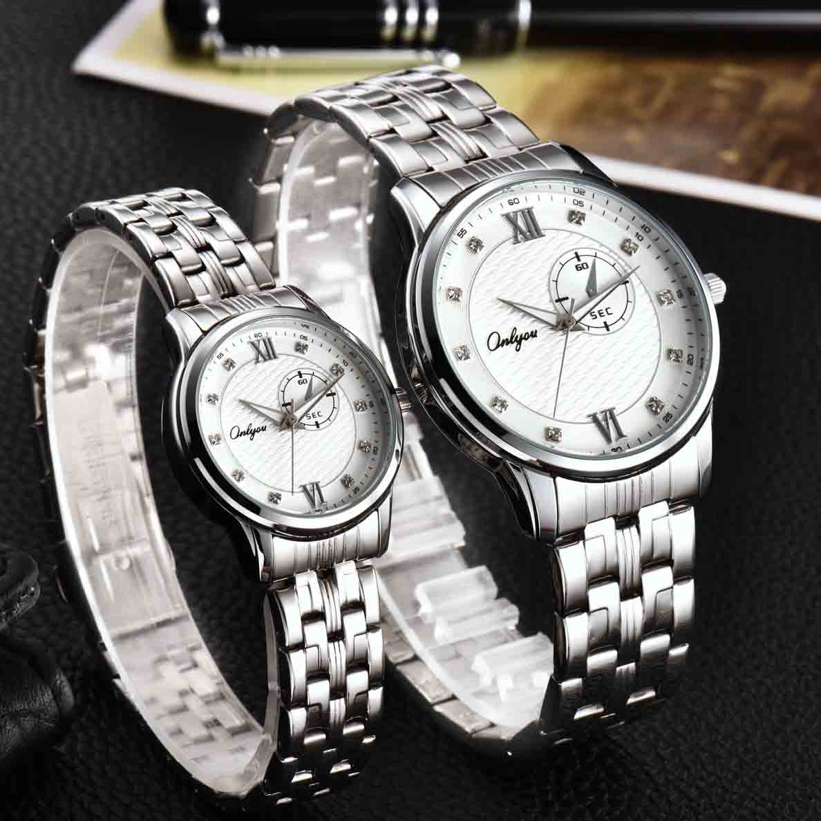 Đồng hồ Onlyou Nữ 81025LA Dây thép không gỉ 28mm